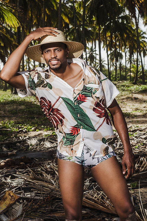 Beach Shirt Folhas