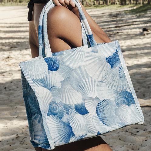 Beach Bag Conchas Azul