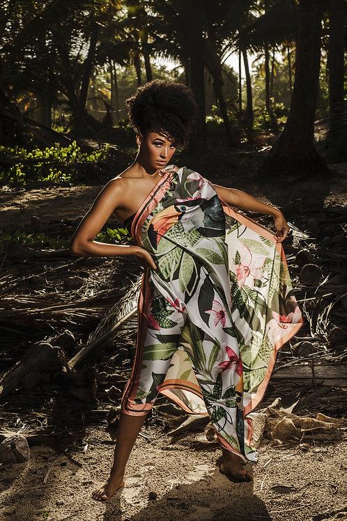Dress Flor da Terra One Shoulder