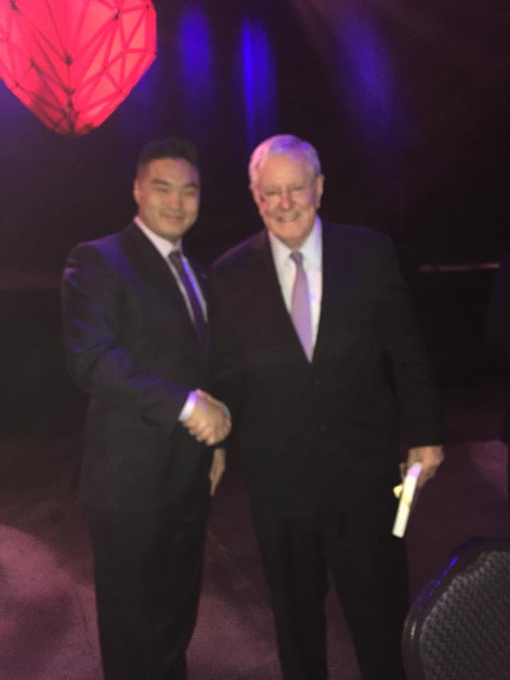 Mike Cheng with Steve Forbes