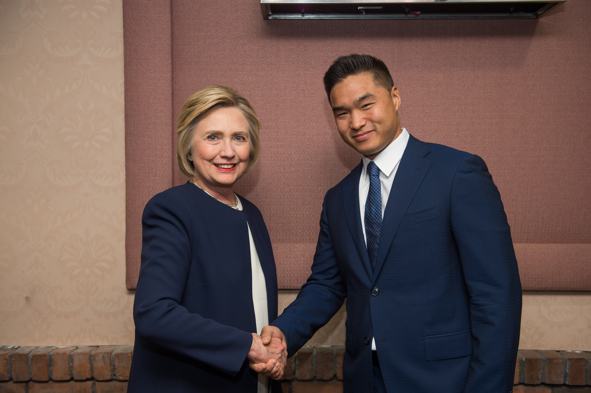 Mike Cheng with Hillary Clinton