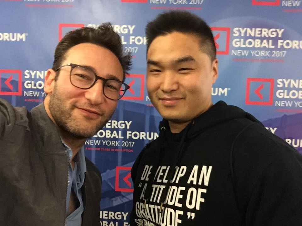 Mike Cheng with Simon Sinek