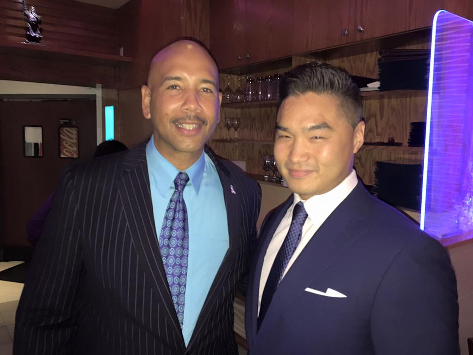 Mike Cheng with Ruben Diaz, Jr.