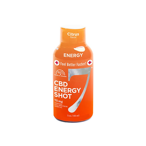 CBD7 Energy Shot 75mg 12-pack