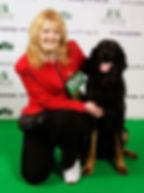 Crufts 2009- Anne with Fasskoley's Salli