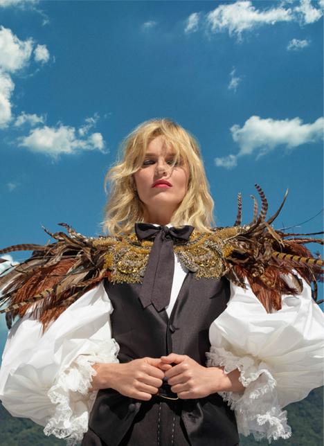 Vogue Italia Tom Munro with Eva Herzigova