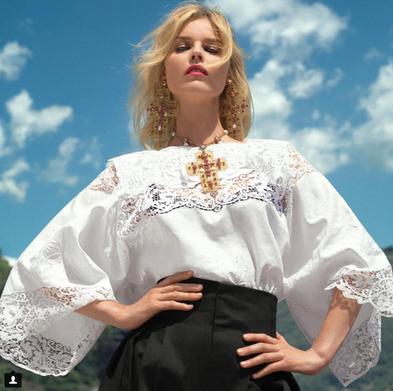 Vogue Italia Tom Munro with Eva Herzigova Italia Tom Munro