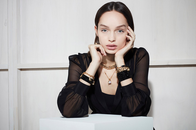 Karl Lagerferld with Luma Grothe
