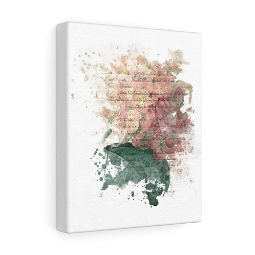 French Hydrangea Collage Canvas Gallery Wrap