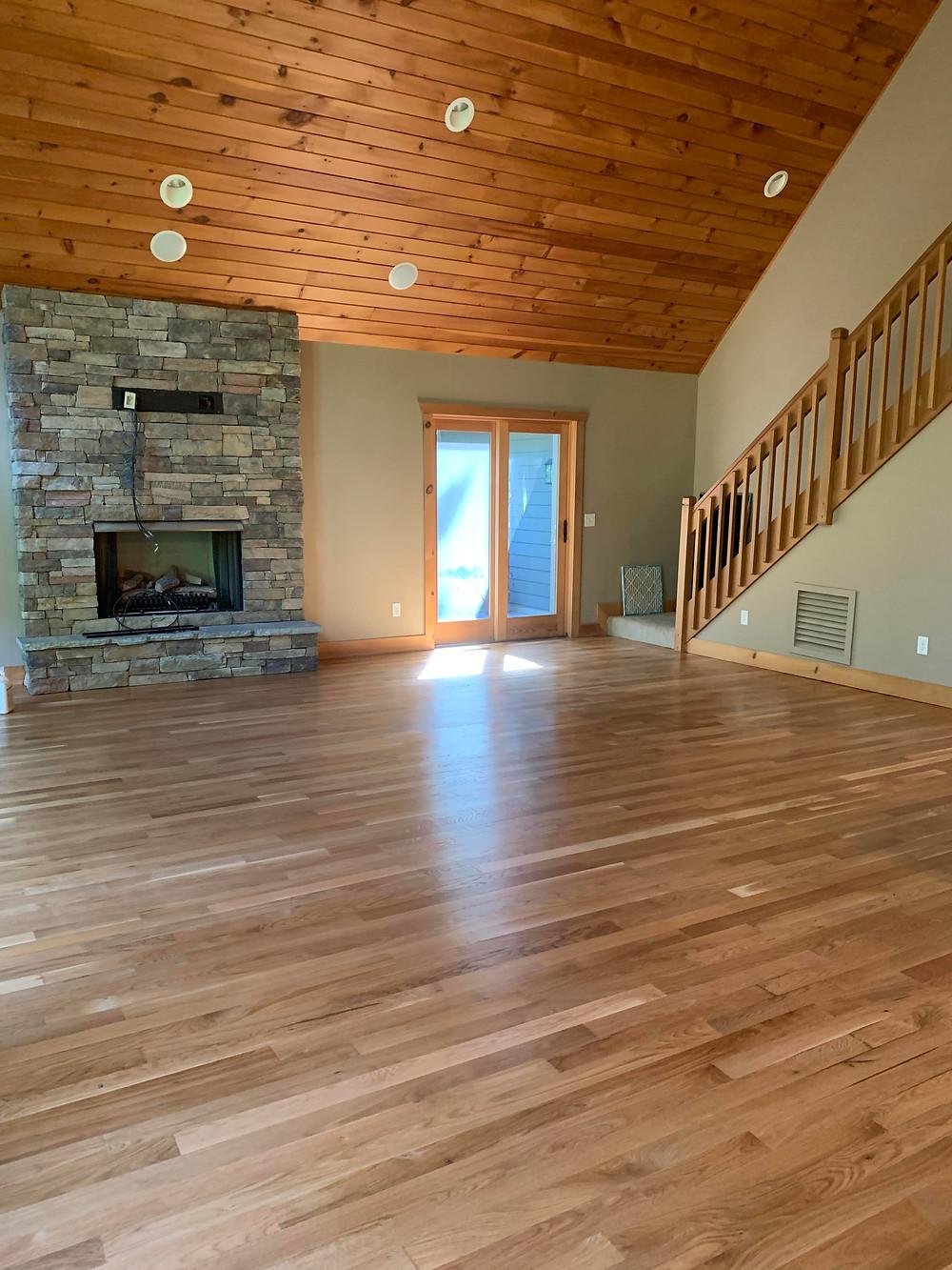 recoated wood floor