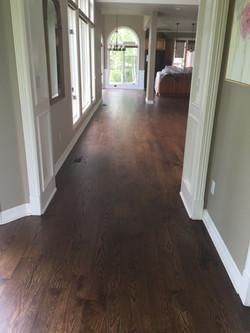 "Spice Brown on 5"" White Oak Plank"