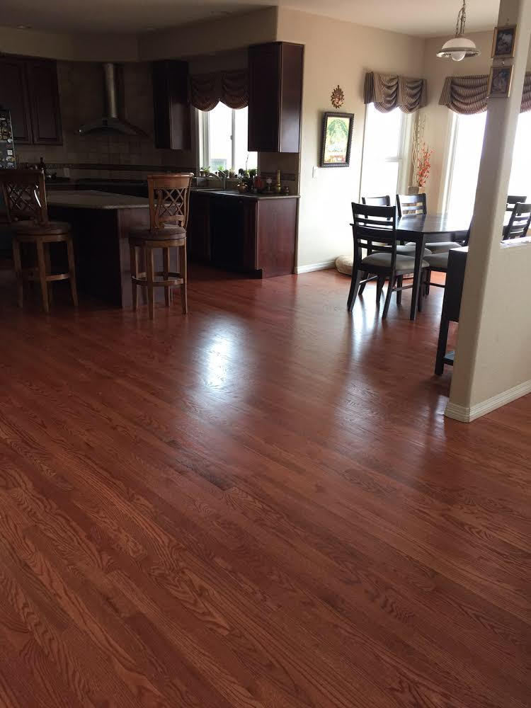 Red Oak Stained with Cherry