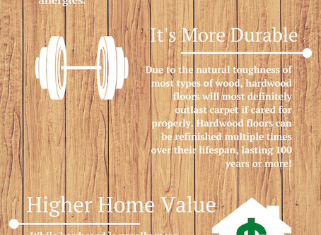 What are the benefits of hardwood over carpet?