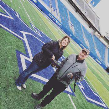 At the Kentucky Wildcats stadium
