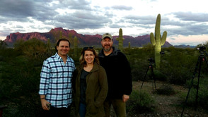 Shots in the desert in Arizona