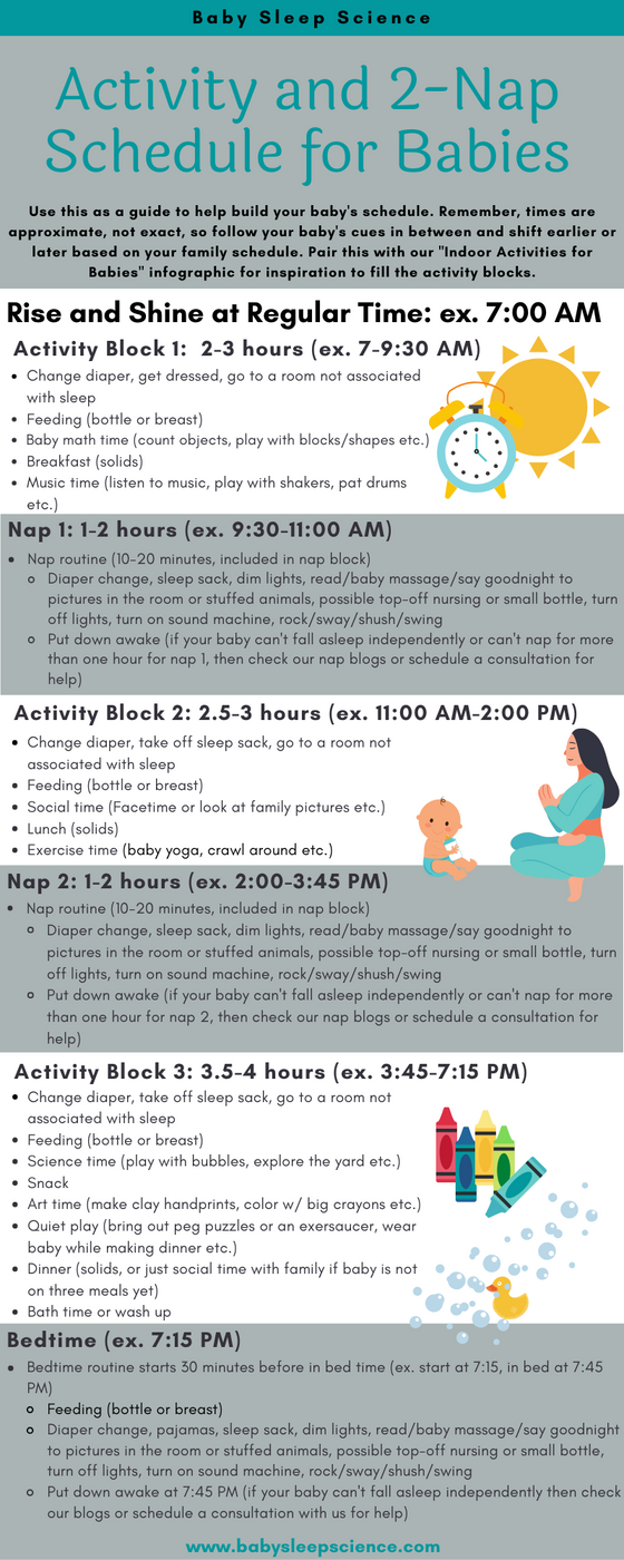 Activity and 2-nap Schedule for Babies ~6-15 Months