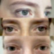 Augenbrauen / Wimpern als der Rahmen des Gesichts.