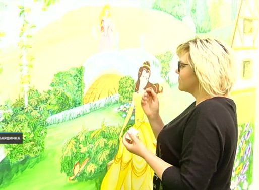 Сказочные героини украшают теперь двор частного дома в Кабардинке