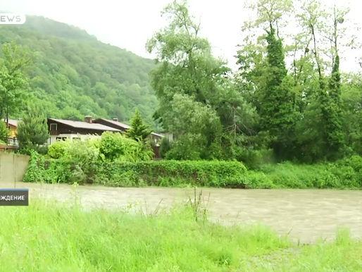 Уровень воды в реках вырос из-за выпавших осадков