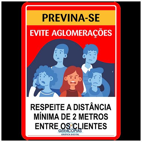 Placa Evite Aglomerações