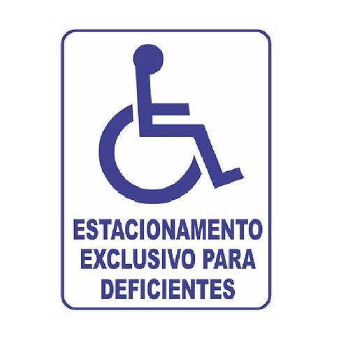 Placa Estacionamento Deficiente Fisico