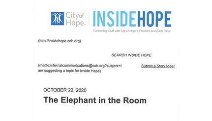 An Article by City of Hope Hospital