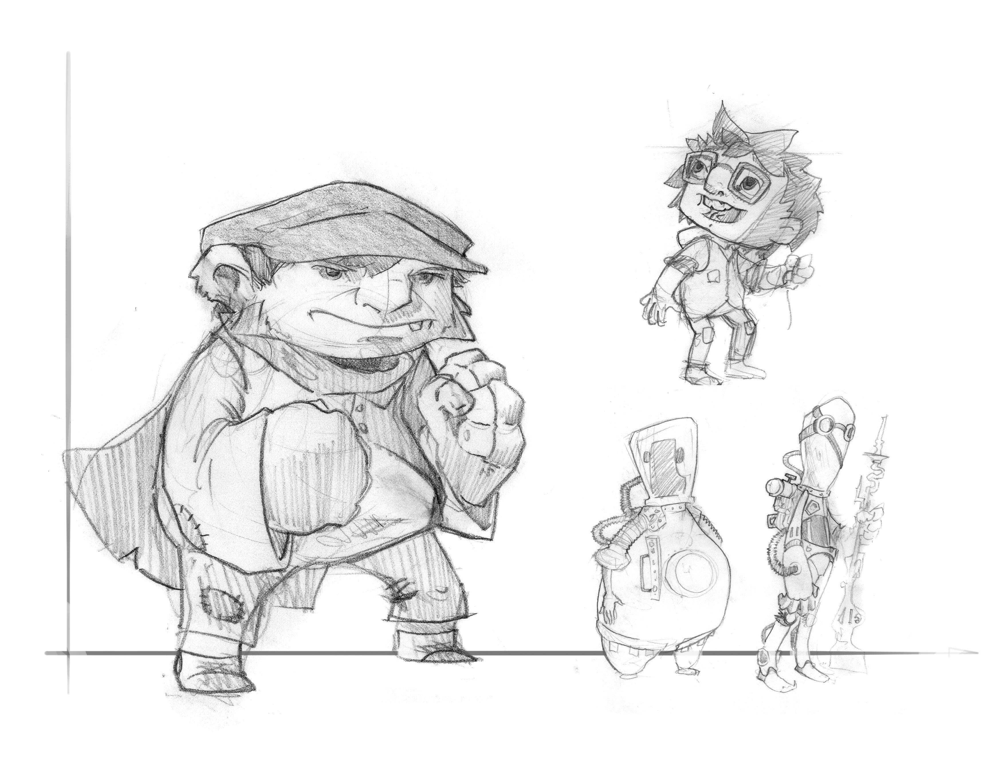 Children's Game Character Studies
