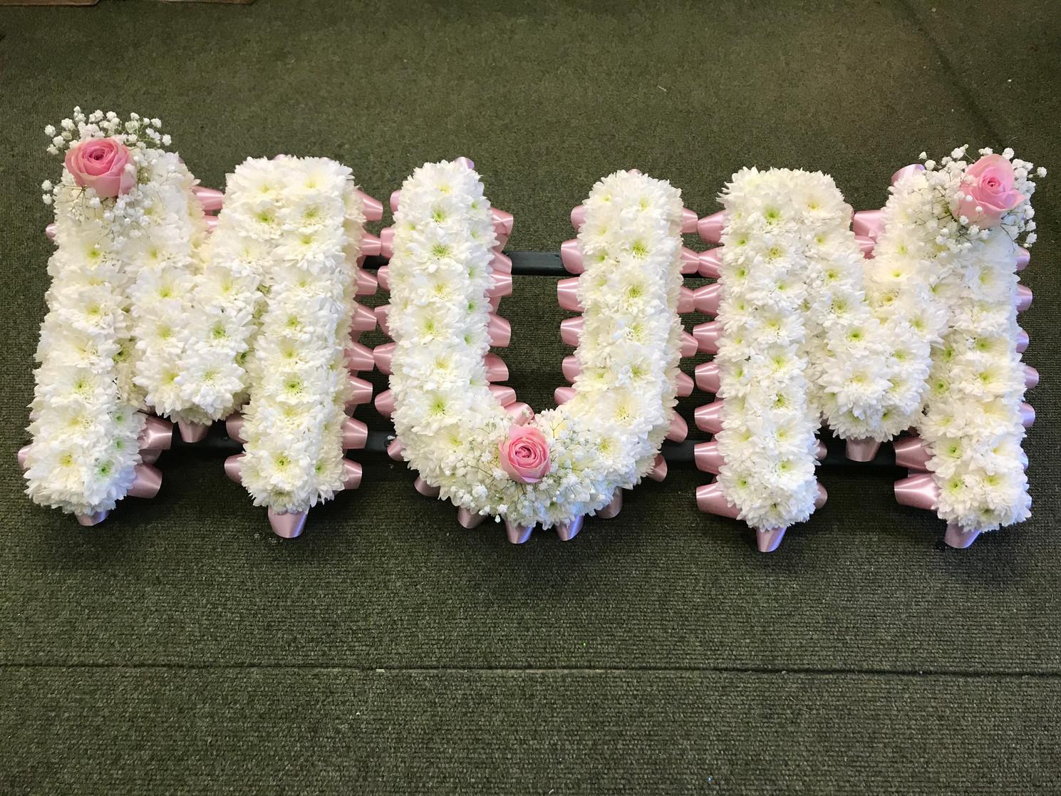 Mum in letters