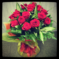 Red Rose Hand Tied Bouquet