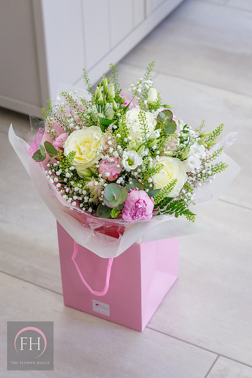 Hand Tied Bouquet in Gift Bag