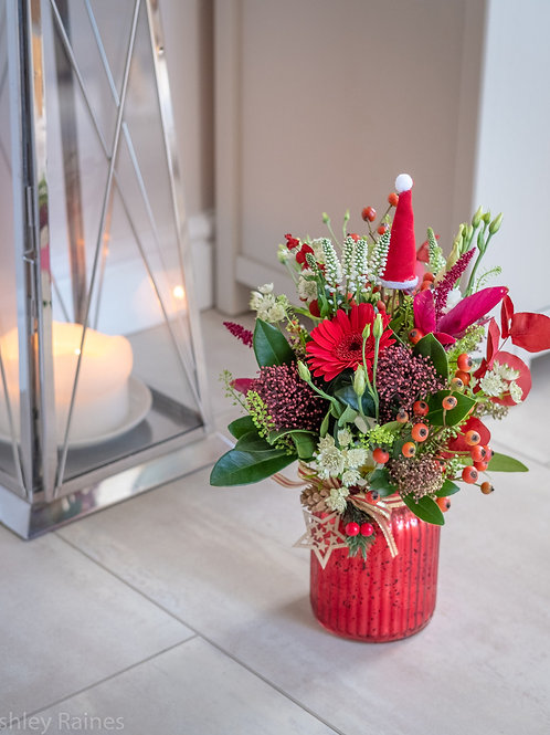 Christmas Red Vase