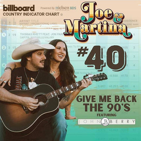 """Joe & Martina Independently Score a Top 40 Hit on Billboard Country Chart with """"Give Me Back the"""