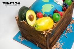 Tarta corporativa madrid caja de frutas Fermac