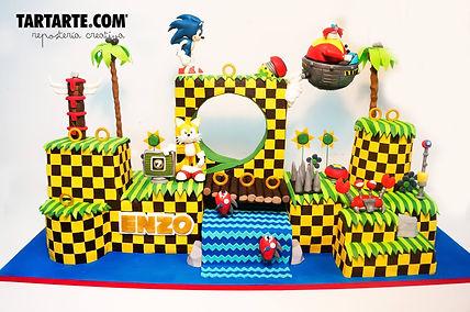 tartas personalizadas, sonic cake, tartas corporativas, tartas sonic