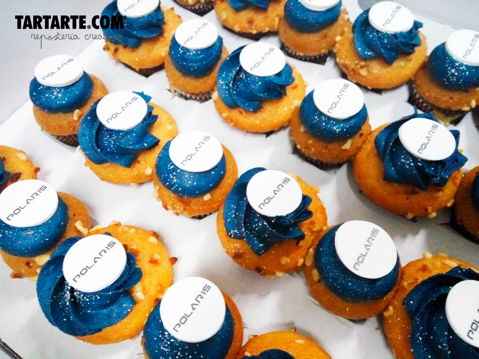 Mini cupcakes Polaris con marcas de agua