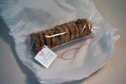 Galletas con Chips etiqueta navideña