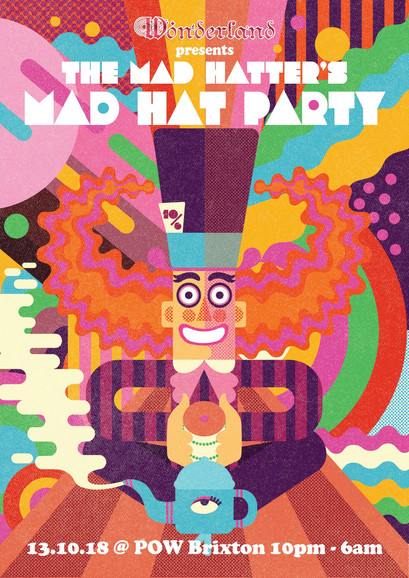 Mad Hat Party Flier