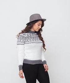 Grey alpaca sweater