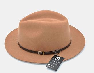 Brown felt hat made in Ecuador
