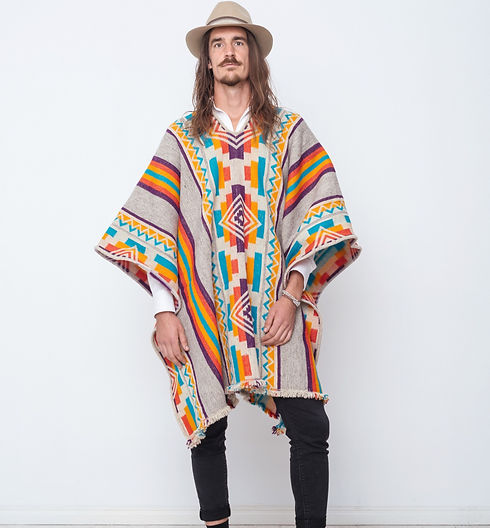 Colorful poncho handmade in Latin America