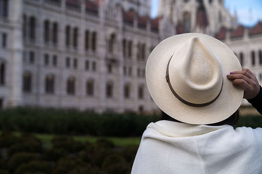 Panama hat in Budapest