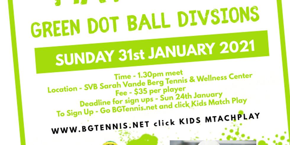 Green Dot Ball Match Play - Sunday January 31st