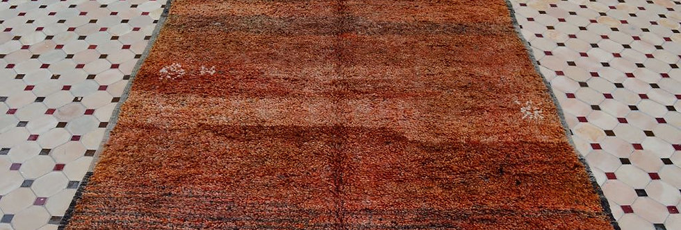 Handmade Vintage Shades of Red Mrirt Rug