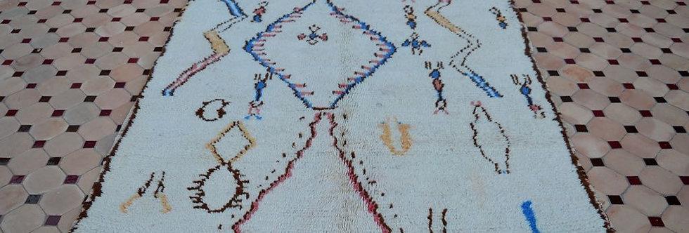 Handmade Vintage Berber Motif Azilal Rug