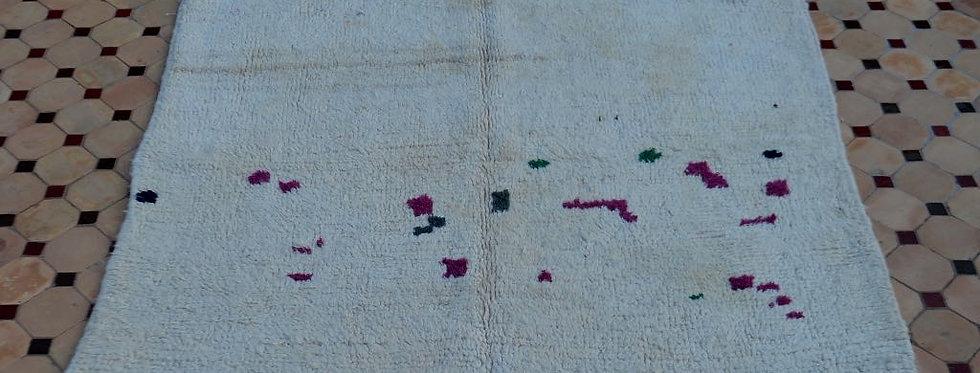 Handmade Vintage Off-White Azilal Rug