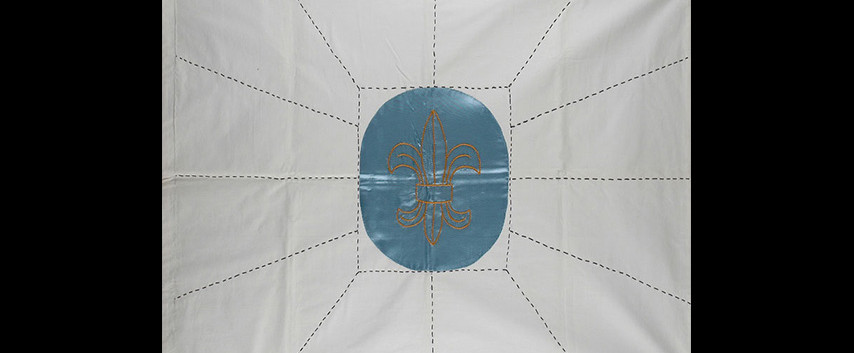 The replica of the flag reconstructed af