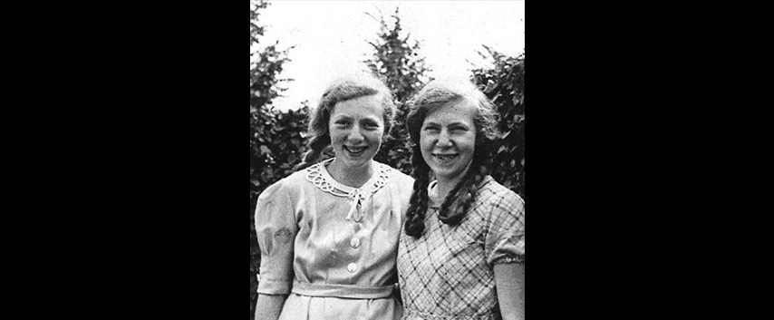 The sisters Hilda and Betty Nathan from