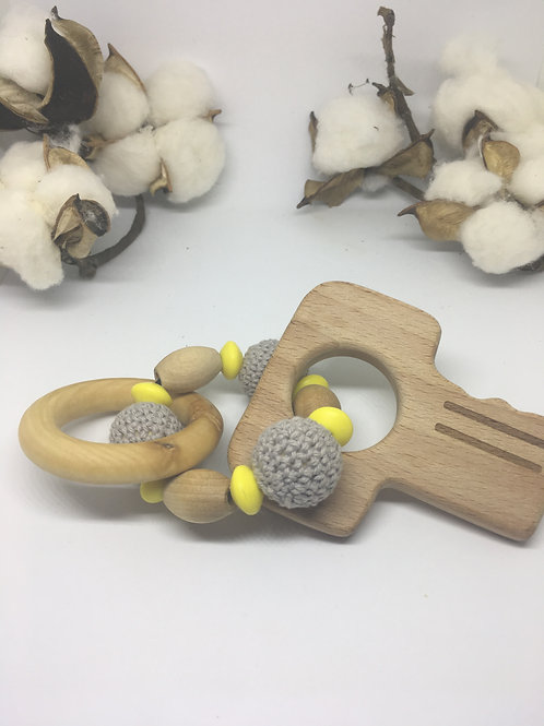 Wooden Key Rattle