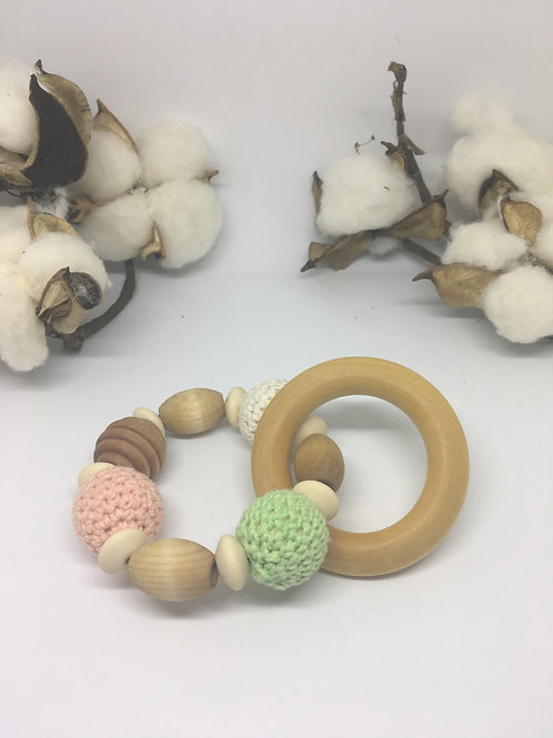 Wooden Ring Rattle