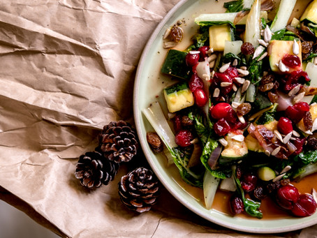 Festive White Pak Choi & Cranberry Salad